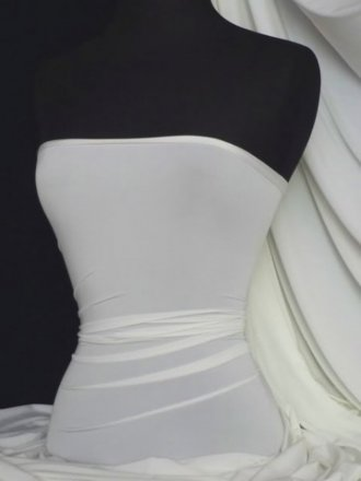 Silk Touch 4 Way Stretch Lycra Fabric- Ivory Q53 IV