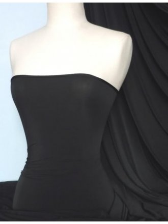 Silk Touch 4 Way Stretch Lycra Fabric- Black Q53 BK