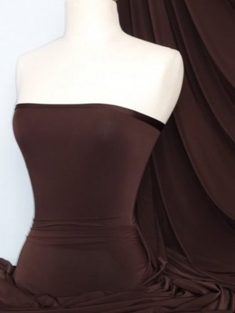 Silk Touch 4 Way Stretch Lycra Fabric- Chocolate Brown Q53 CHBR