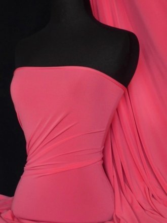 Soft Touch 4 Way Stretch Lycra Fabric- Lipstick Pink Q36 LPSPN