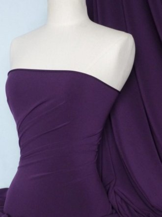 Soft Touch 4 Way Stretch Lycra Fabric- Purple Q36 PPL