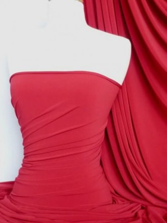 Soft Touch 4 Way Stretch Lycra Fabric- Tomato Red Q36 TRD