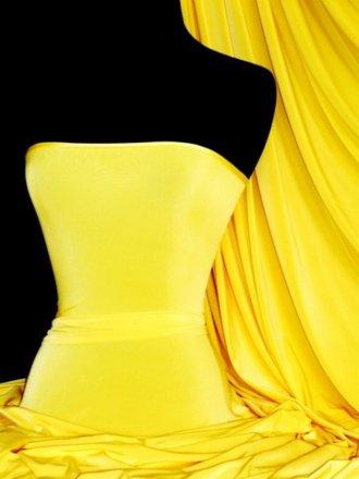 Silk Touch 4 Way Stretch Lycra Fabric- Yellow Q53 YL