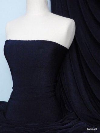 Clearance Slinky Stretch Jersey Fabric- Navy Q323 NY