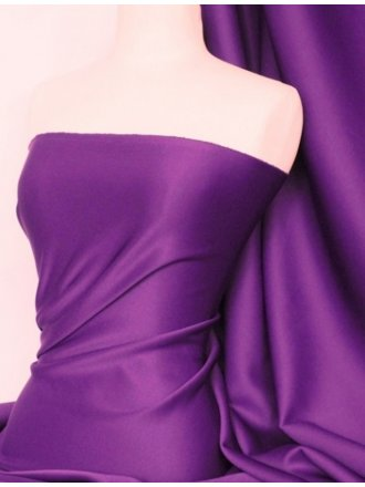 Scuba 4 Way Stretch Poly Lycra Fabric- Purple Q792 PPL