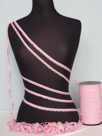 3 Metres Candy Pink Lingerie Elastic Trimming