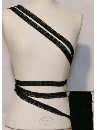 Black Floral Lace Trimming