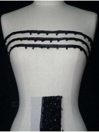 Black Diamond Beaded Trim