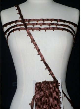 Espresso Brown Diamond Beaded Trim