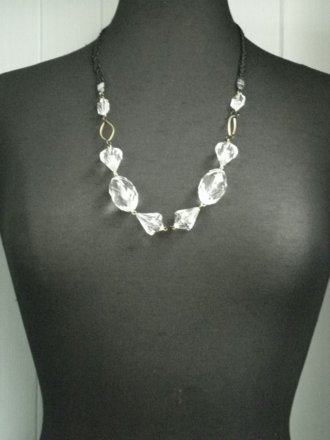Gem Necklace- Crystal EM177 CSTL