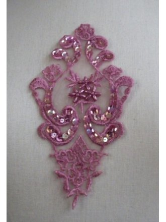 Beaded Sequins Applique- Dusky Pink EM143 DPN