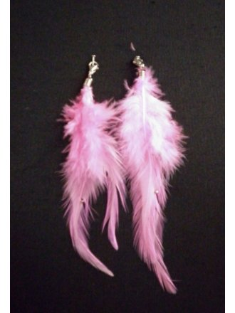 Set Of Two - Pink Feather Embellishment
