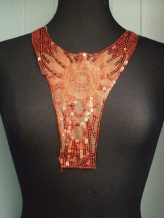 Sequin Neck Piece- Bright Red EM183 BTRD