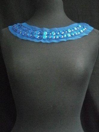 Royal Blue Jewels Round Neck Piece