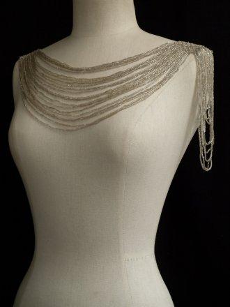 Chain Drape Embellishment- Silver EM111 SLV