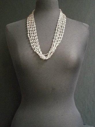 Light Mauve Stone Beaded Necklace