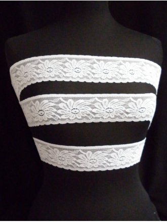 White Flower Lace Trim