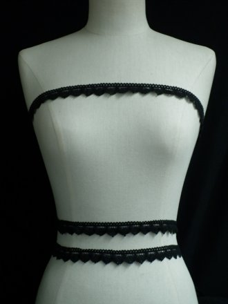 Black Cotton Crochet Trim