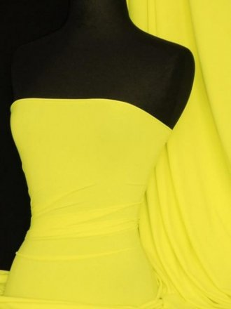 Matt Lycra 4 Way Stretch Fabric- Yellow Q56 YL