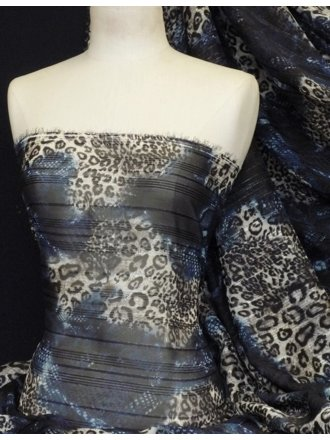 Chiffon Soft Touch Sheer Subtle Shimmer - Blue Leopard Q1166 BL