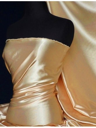 Super Soft Satin Fabric- Beige Q710 BGE