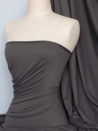 Cotton Lycra Jersey Light Weight 4 Way Stretch Fabric- Charcoal Q1140