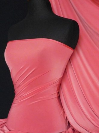 Silk Touch 4 Way Stretch Lycra Fabric- Coral Q53 CRL