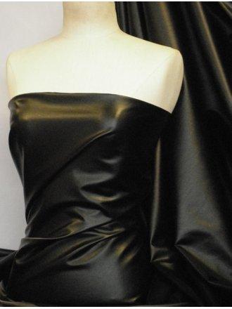 PV122 Leatherette Semi Wet Look Stretch Material- Black Q1168 BK