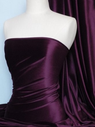 Steam Velvet Stretch Fabric- Aubergine SV157 AUB