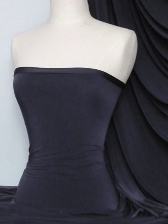 Silk Touch 4 Way Stretch Lycra Fabric- Navy Q53 NY