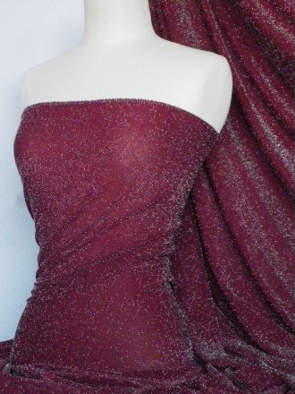 Slinky Shimmer 4 Way Stretch Fabric- Red Wine Q1183 RDWN