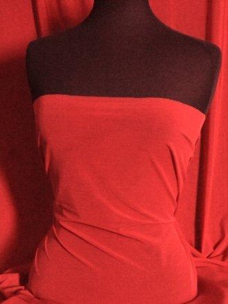 Semi-Sheen Power Mesh Material - Tomato Red S18 TMRD