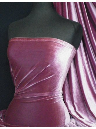 Velvet /Velour 4 Way Stretch Spandex Lycra- Grape Q559 GRP
