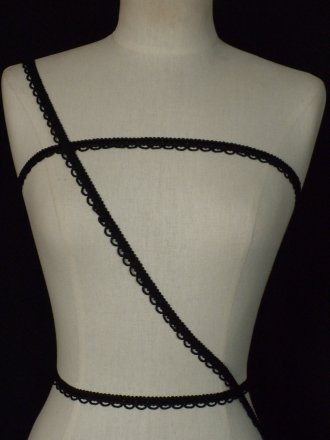 2 METRES Rope Braided Trim- Black SY208 BK