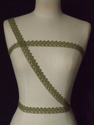 Olive Green Cotton Crochet Trim
