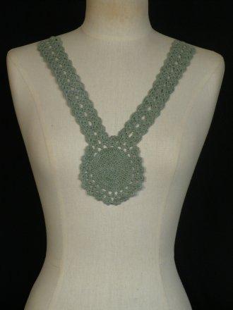 Cotton Crochet Neck Piece- Sage Green EM355 SGR