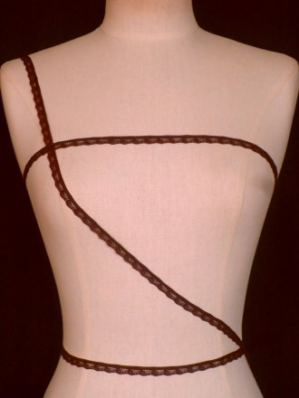 3 METRES Dark Purple Lingerie Elastic Trim