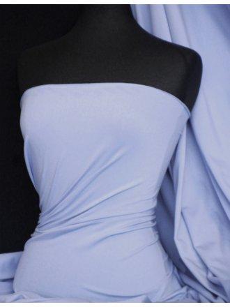 Cotton Lycra Jersey 4 Way Stretch Fabric - Light Blue Steel Q35 LTSTLBL