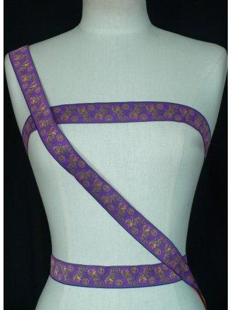 Purple Floral Design Trimming
