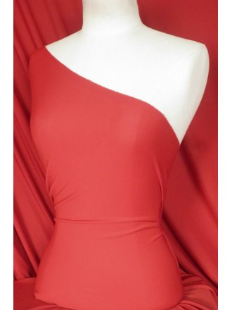 Clearance Lucci Stretch Fabric- Tomato Red SQ108 TMRD