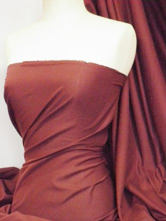 Poly Cotton Sheeting Fabric Material (150cm)- Dark Wine Q1274 DKWN