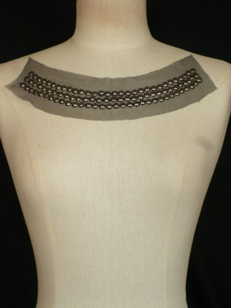 Black/ Grey Beaded Net Neck Piece