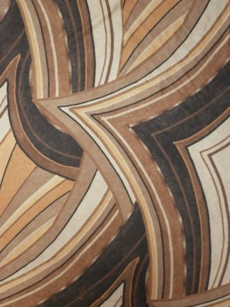 Micro Lycra 4 Way Stretch Fabric- Brown Abstract Q1079 BRN