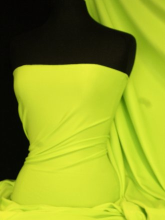 Marcy 4 Way Stretch Poly Lycra Fabric- Neon Yellow Q1336 NYL