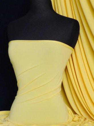 Soft Touch 4 Way Stretch Lycra Fabric- Yellow Q36 YL