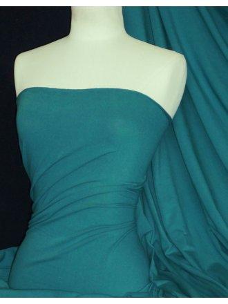 Cotton Lycra Jersey 4 Way Stretch Fabric - Sea Green Q35 SGR