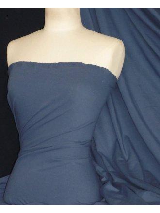 Cotton Lycra Jersey 4 Way Stretch Fabric -  Dark Denim Blue Q35 DDNM