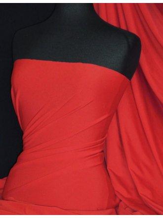 Matt Lycra 4 Way Stretch Fabric- Tomato Red Q56 TRD