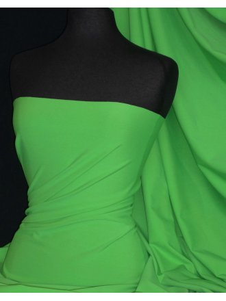 Matt Lycra 4 Way Stretch Fabric- Kelly Green Q56 KGR