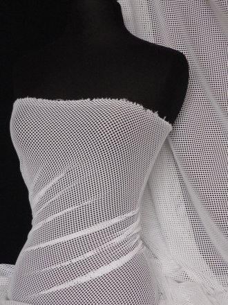 Fishnet 3mm 4 Way Stretch Material- White Q316 WHT